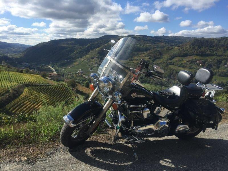 Harley-Davidson motorcycle tours in Piedmont Italy